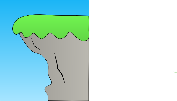 cliff vector art
