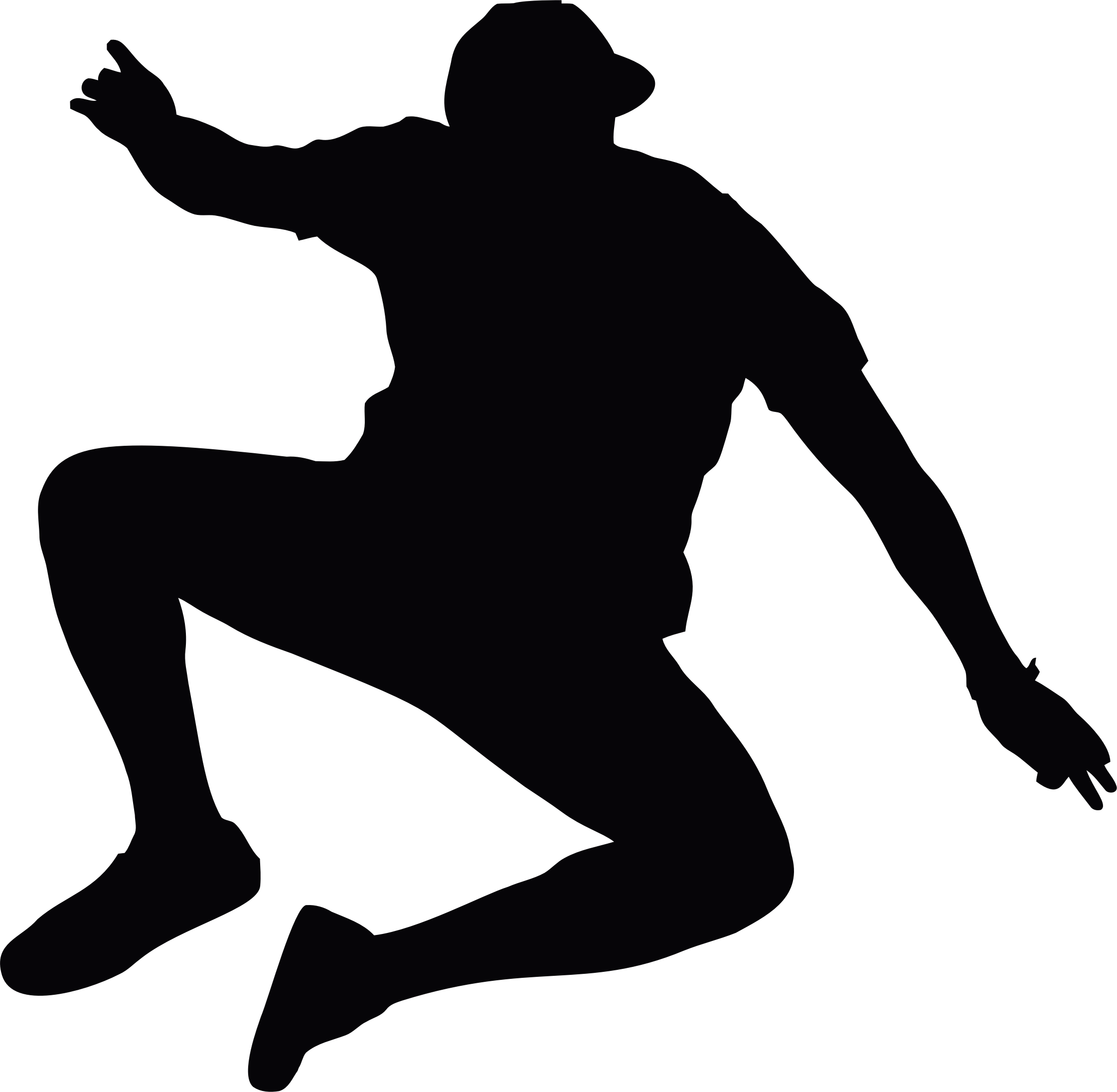 Cliff jump png. Jumping man silhouette icons