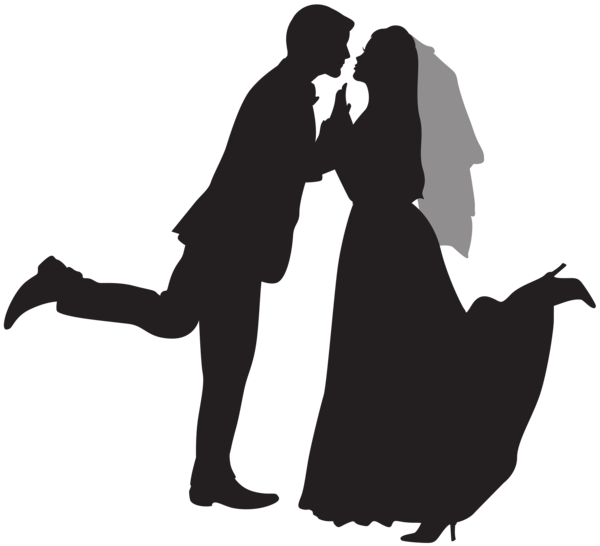 Dino couple png. Silhouette wedding clip art