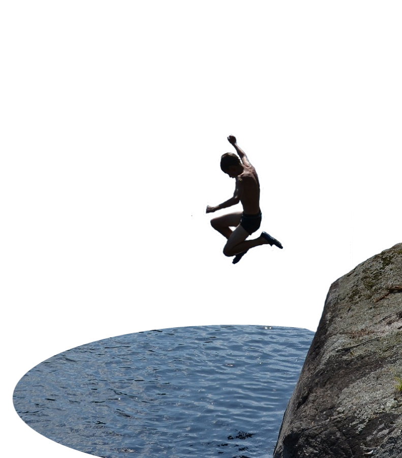 Cliff success jump png. Jumping insurance pp sports
