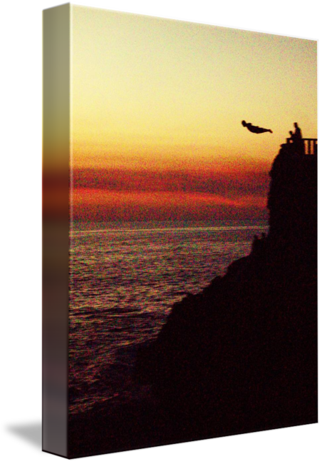 Cliff sunset png. Mazatlan diver by michael