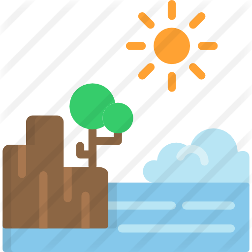 Cliff vector flat. Free nature icons