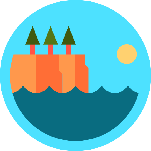Cliff vector flat. Icon