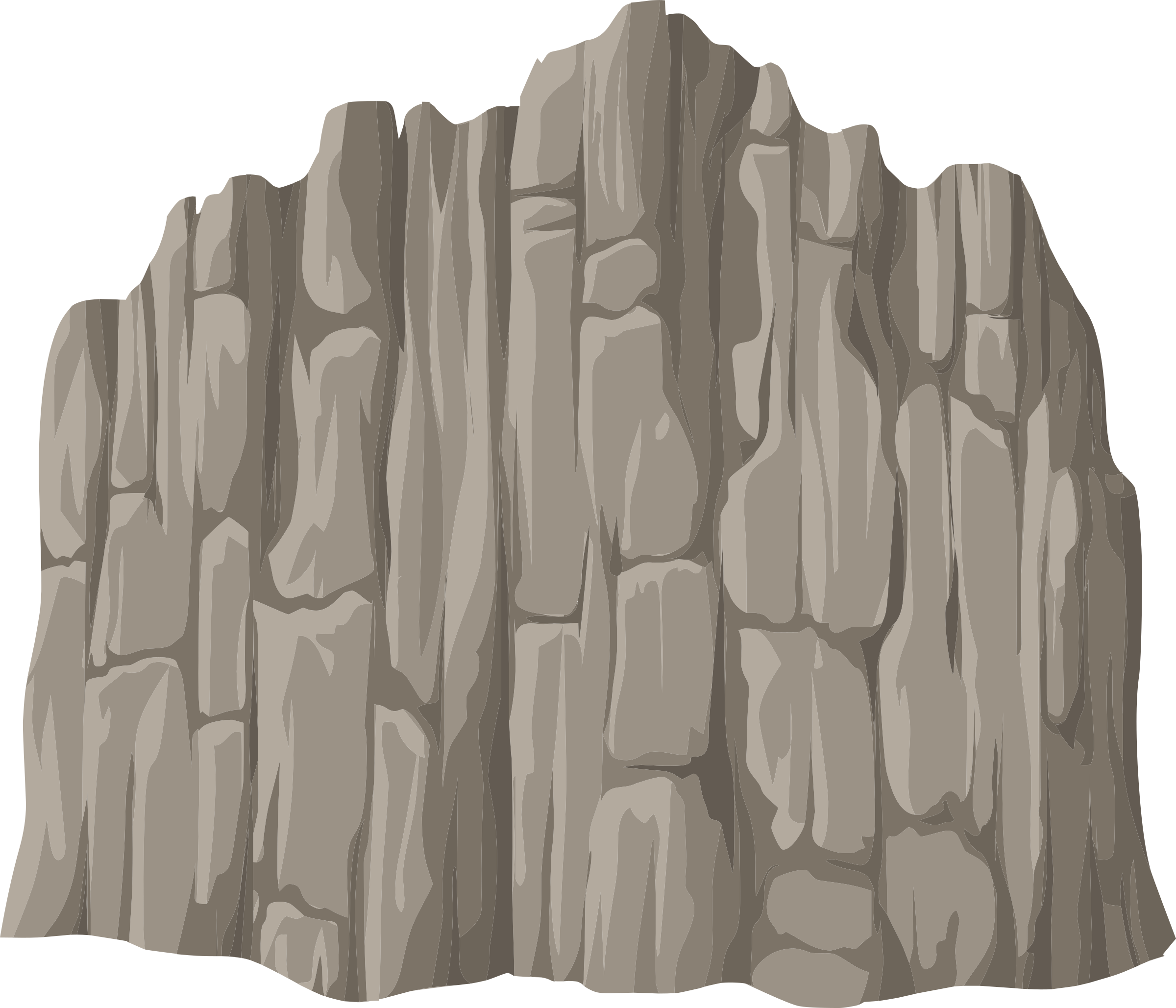 Cliff wall png. Alpine landscape face mountaineering