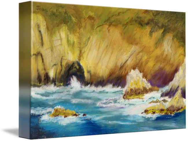 Cliffs drawing ocean. Of acapulco by joan