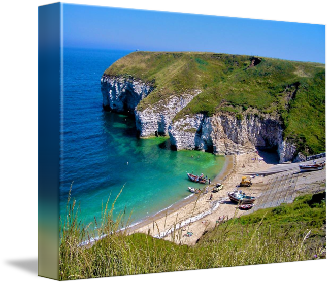 Cliffs drawing ocean. Flamborough by dave rowley