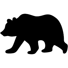 Grizzly drawing design. Bear silhouette