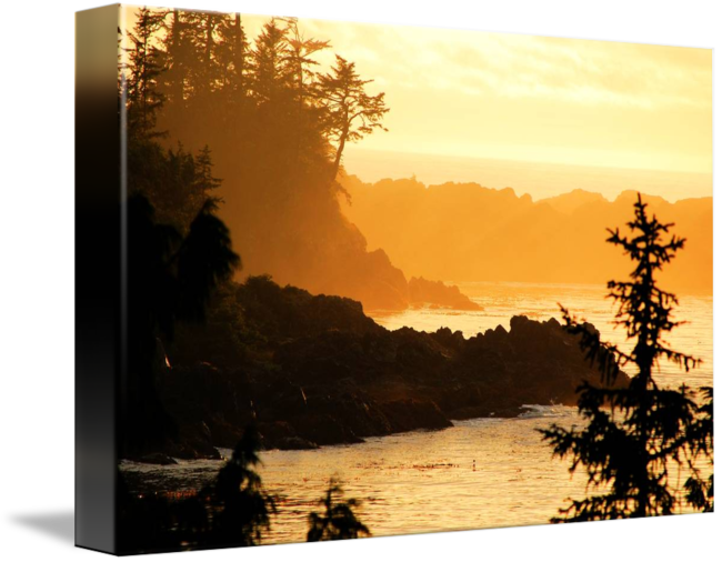 Cliffs drawing sunset. Sunrise ocean ucluelet vancouver