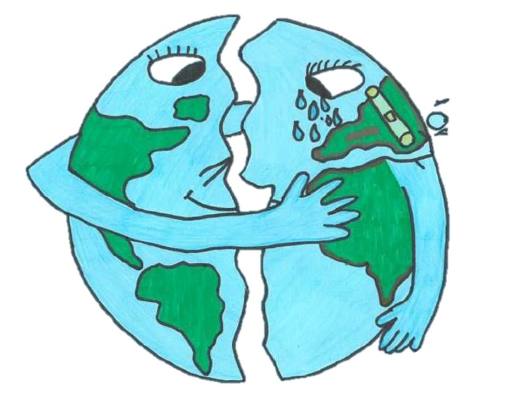 Climate drawing action. Plan a for earth
