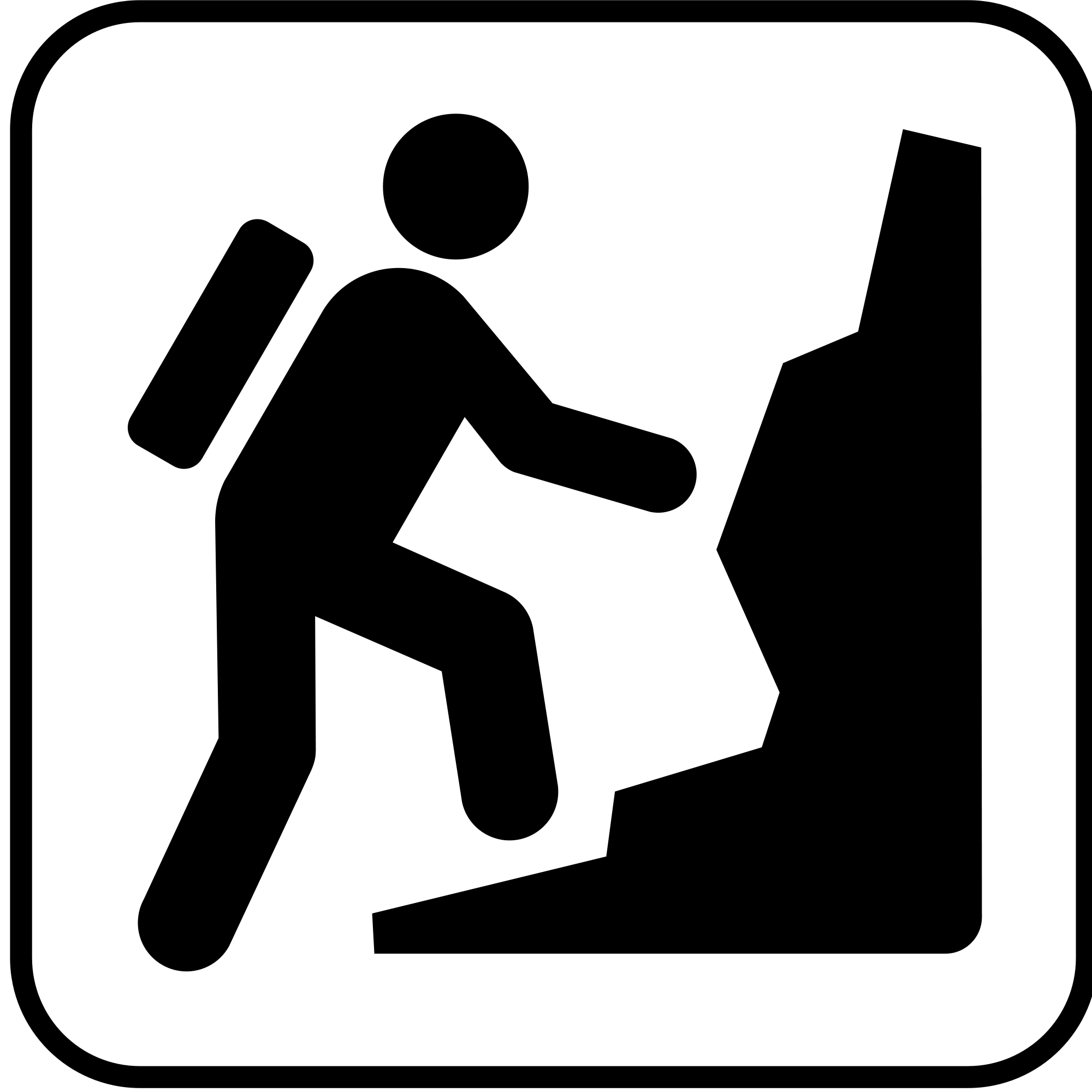 Climber clipart mountaineering. File pictograms nps land