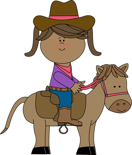 Riding a horse cowgirl