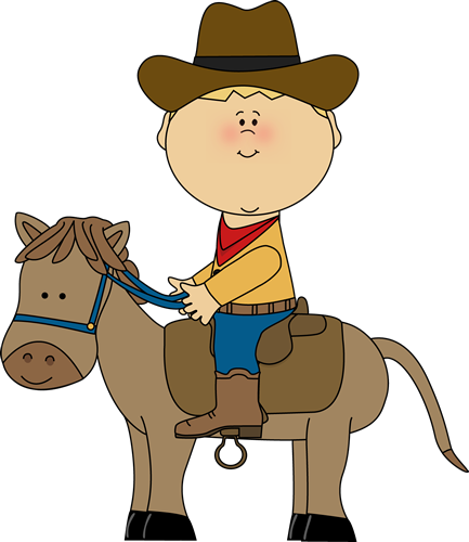 Cowboy a horse clip. Riding clipart image black and white download
