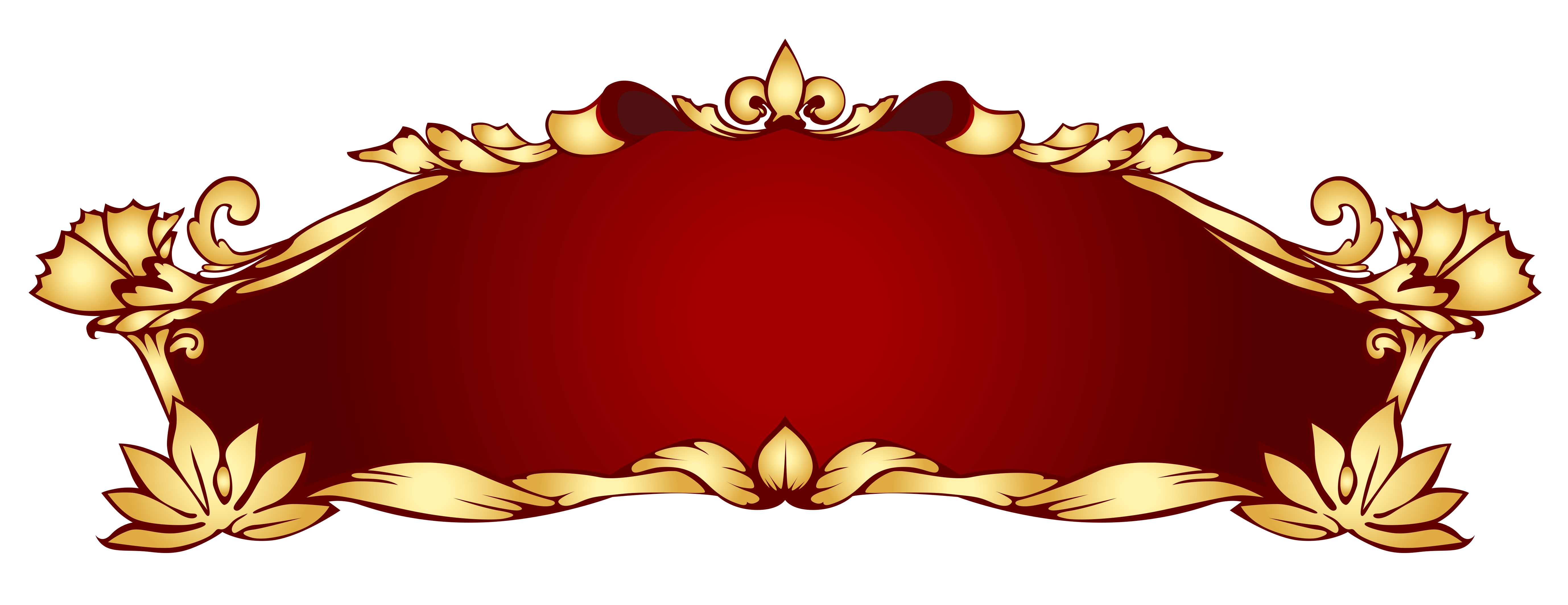 Transparent red deco banner. Medieval clipart ribbon jpg royalty free download