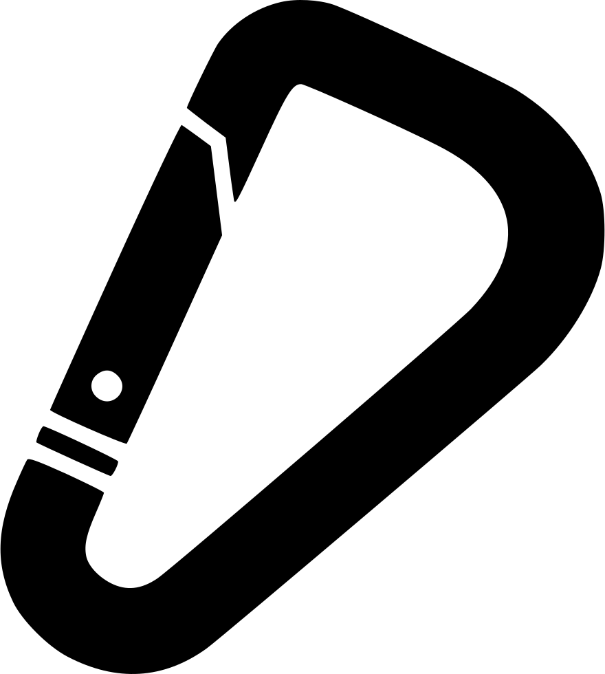 Svg png icon free. Clip at carabiner vector transparent