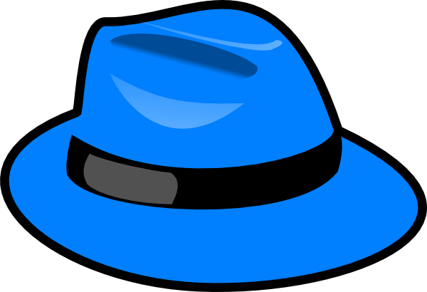 Clip at hat. Blue clipart