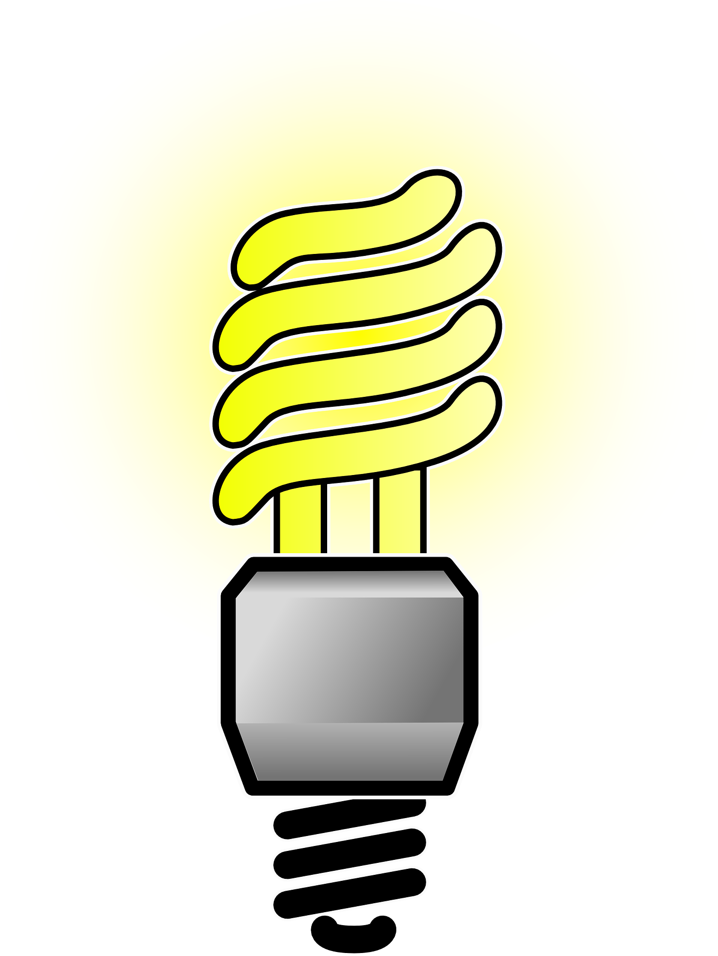 Clip at light. Incandescent bulb efficient energy