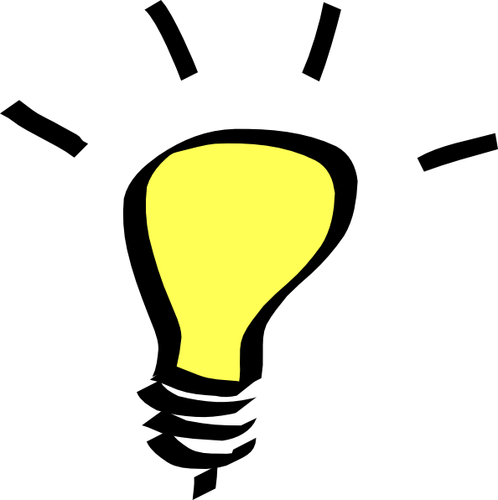 Clip at light. Thinking bulb art t