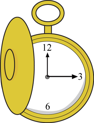Clip from pocket. Watch art image printables