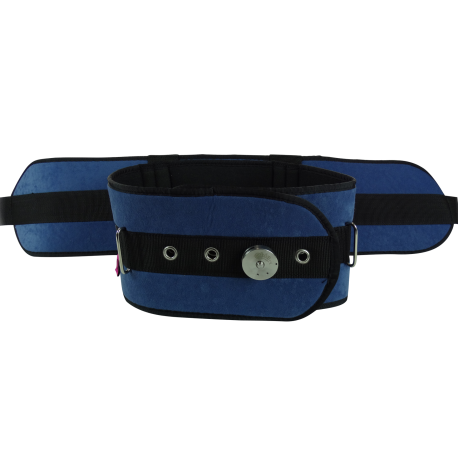 Clip bag belt. Padded bed restraint iron
