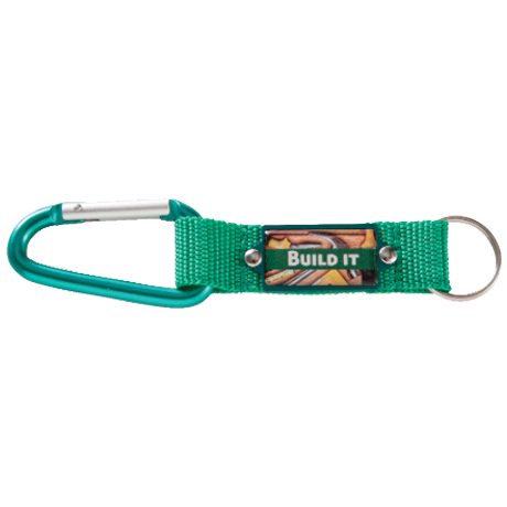 Keyring clip attachment. Carabiner an eye catching