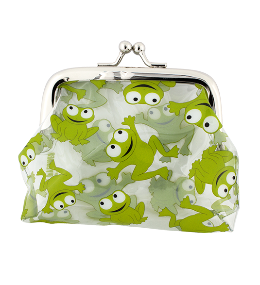 Clip bag frog. Purse with clasp close