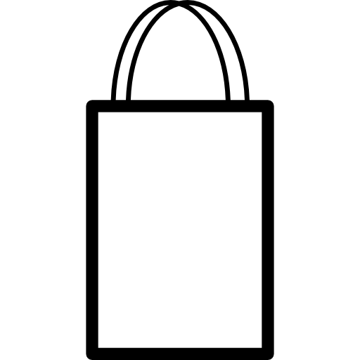 Clip bag handle. Shopping outline with double