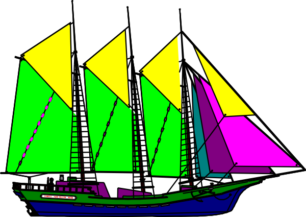 Sailing clip art free. Sail clipart large ship picture freeuse download