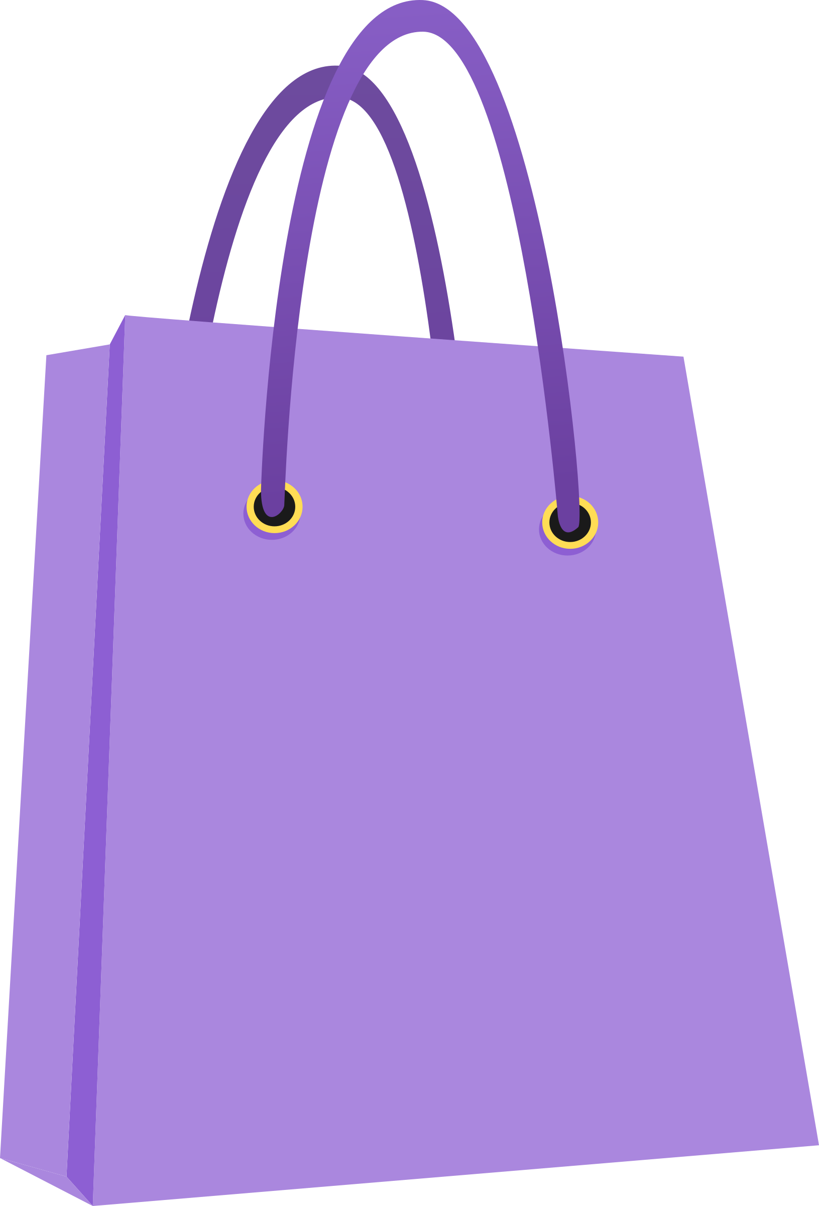 Clip bag. Tote shopping bags trolleys