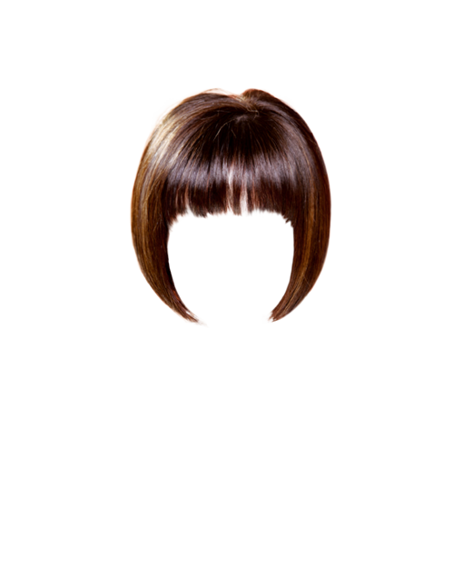 Medium straight casual hairstyle. Clip bangs wispy vector freeuse