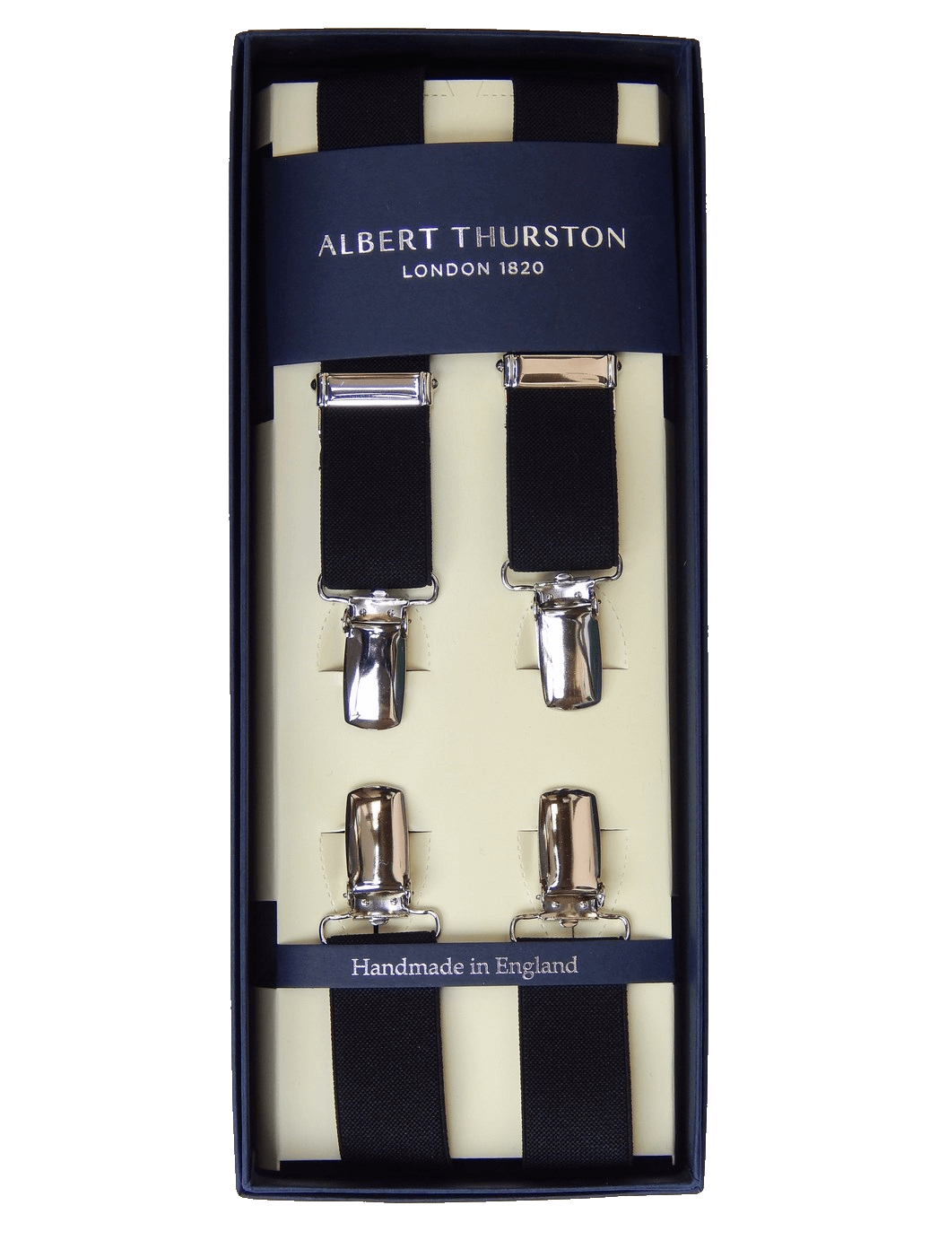 Clip suspenders brown leather. Albert thurston braces black