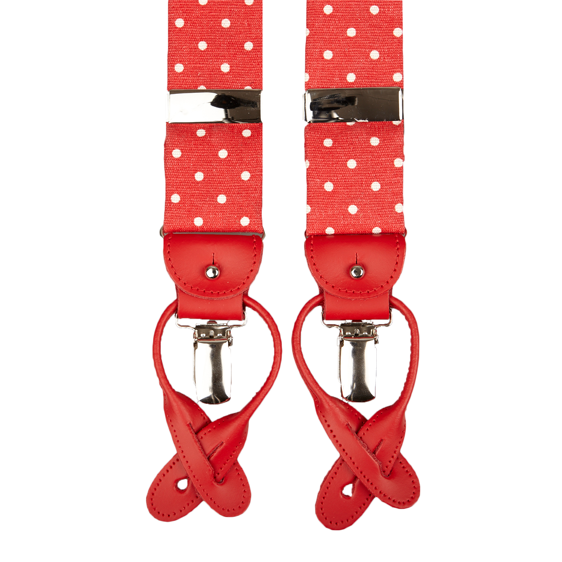 Clip button albert thurston. Red dotted braces baltzar