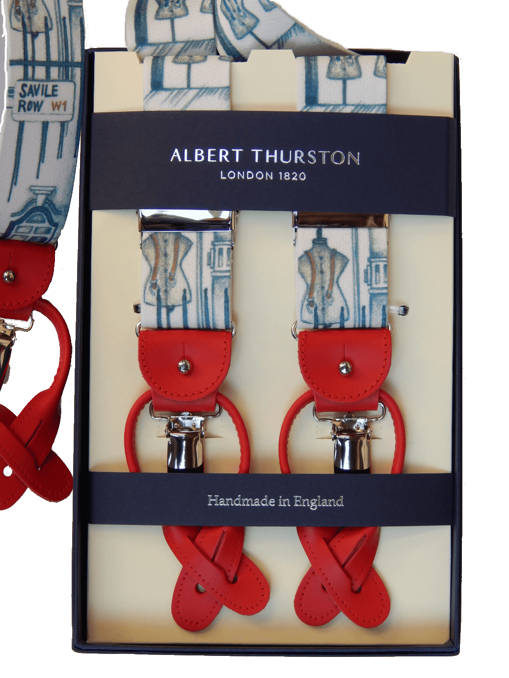 Clip button albert thurston. Braces sartorial elastic a