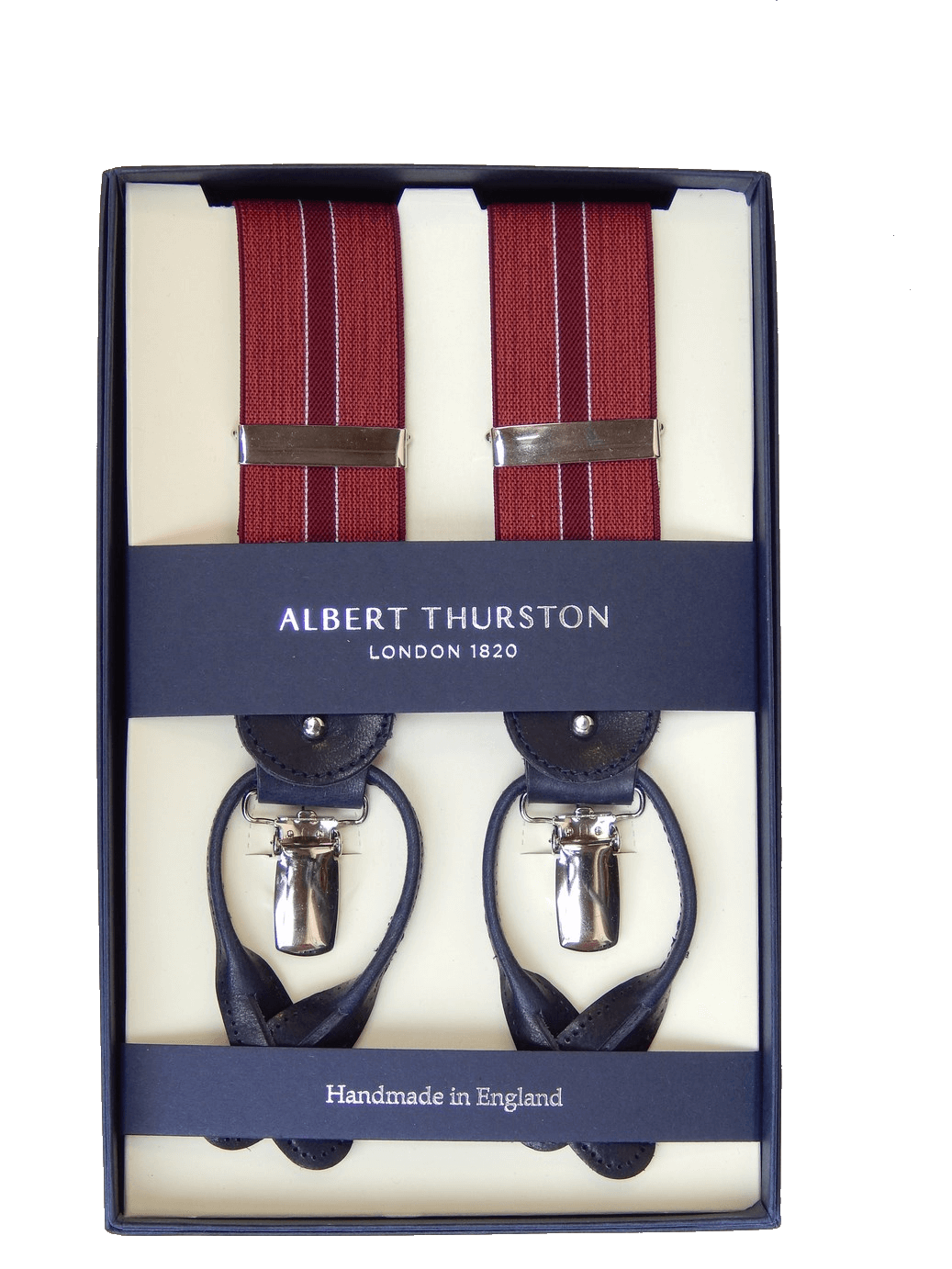 Clip button albert thurston. Braces mm elastic striped