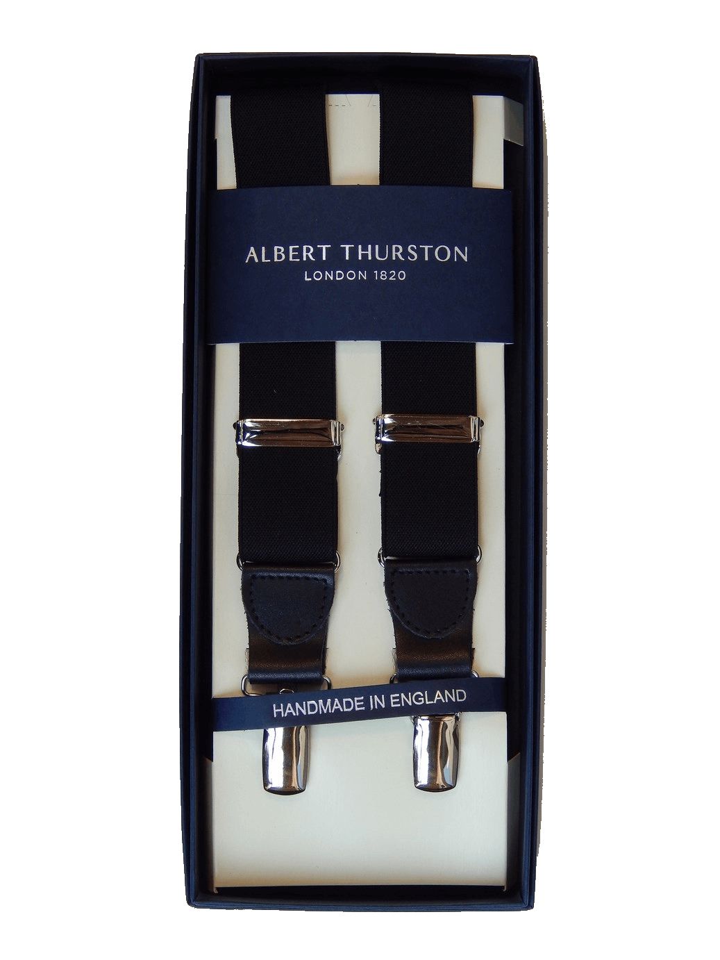 Clip button brace. Albert thurston braces black