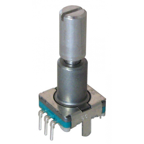 Clip button detent. Rotary encoder with