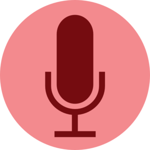 Clip button illustration. Record microphone art at