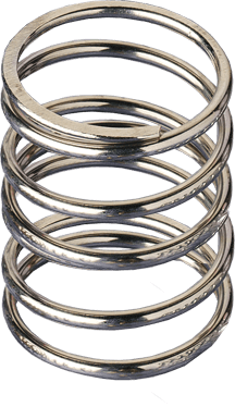 Flat clip stainless steel spring. Compression springs stock springmasters
