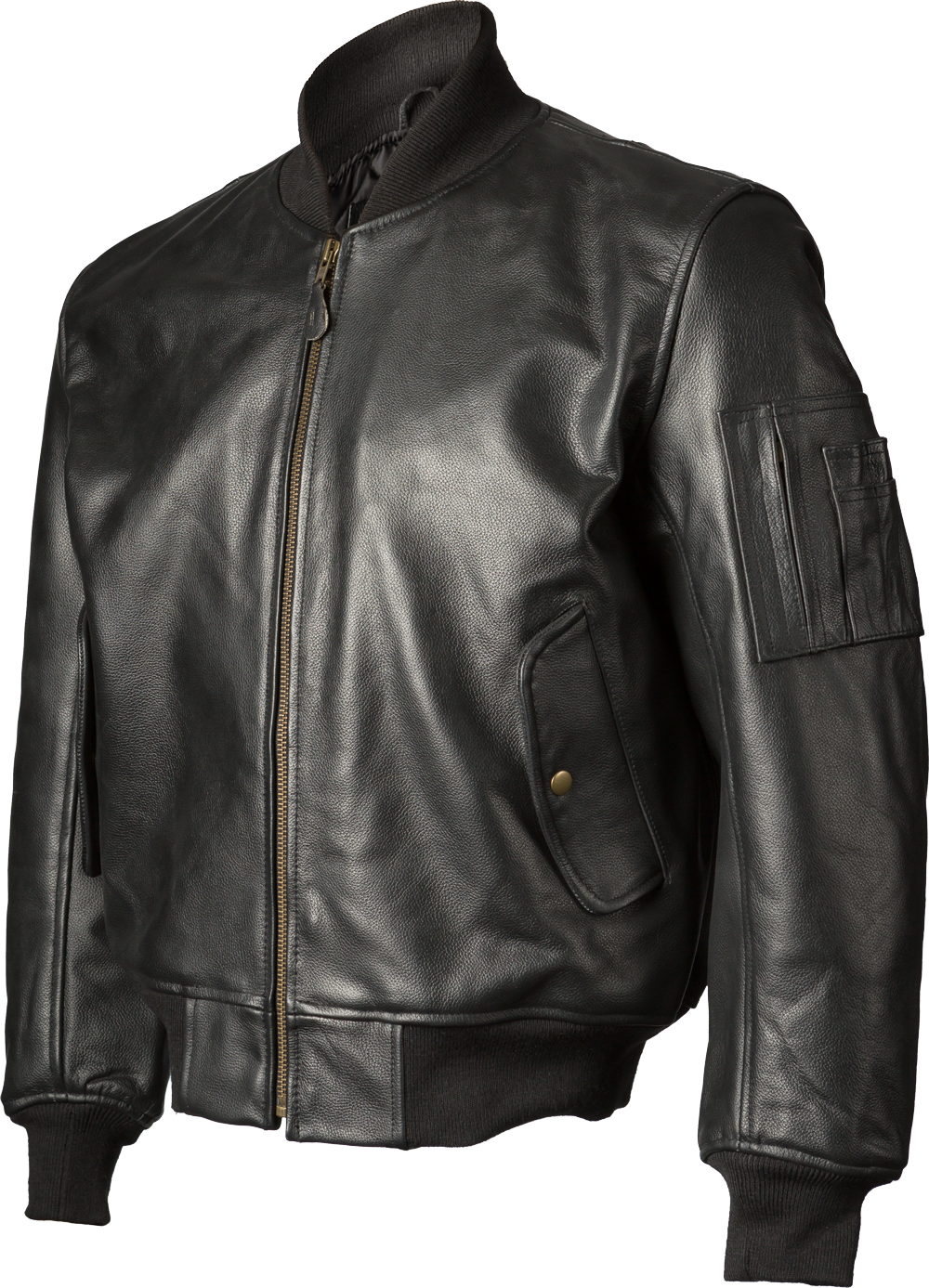 Clip button metal jacket. John ownbey leather ma