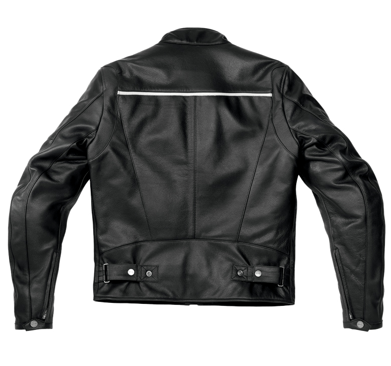Clip button metal jacket. Heritage leather