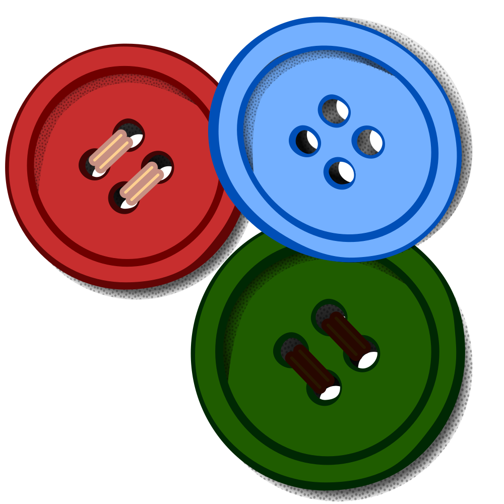 Clip buttons. Onlinelabels art coloured