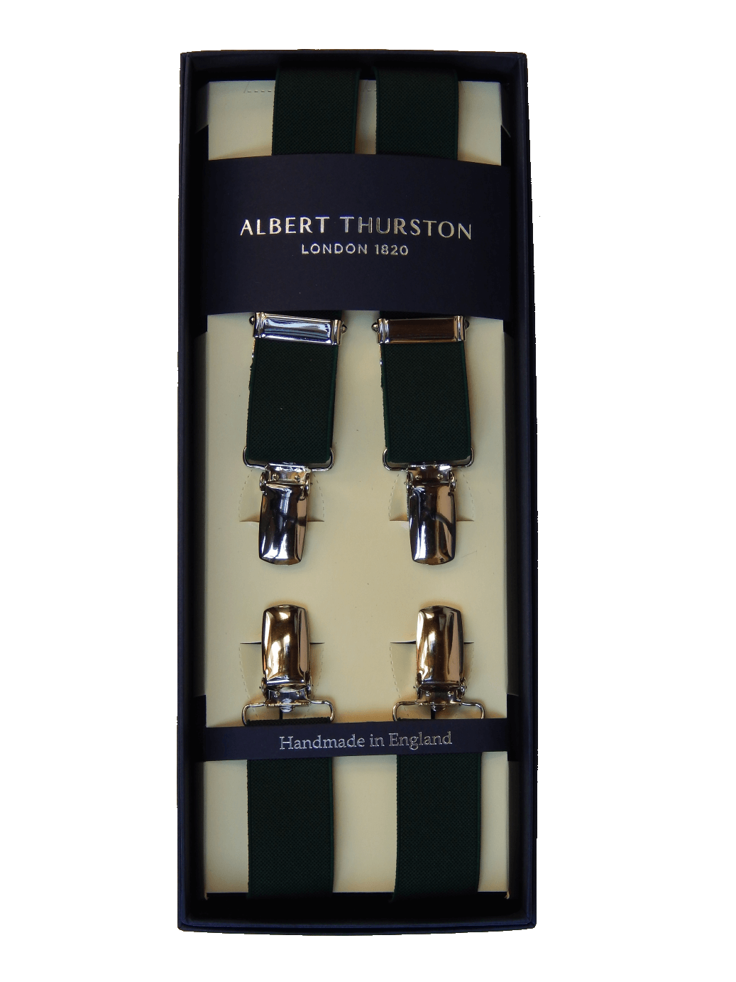 Clip buttons brace. Albert thurston braces green
