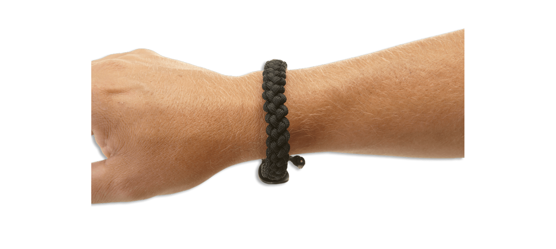 Clip from quick release. Paracord bracelet large