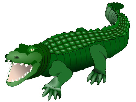 Card krokodil crocodile xmas. Vector alligator clipart black image black and white stock