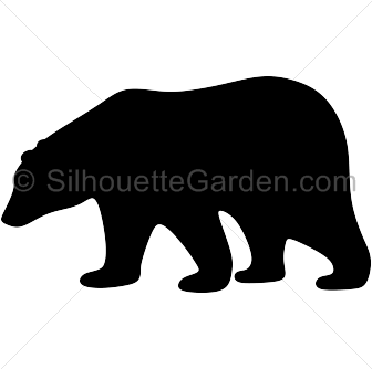 Bear clip silhouette. Polar art download free