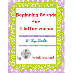 Clip cards beginning sounds. Letter for words