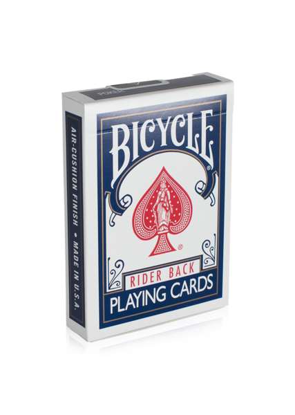 Clip cards bicycle card. Rider back playing art