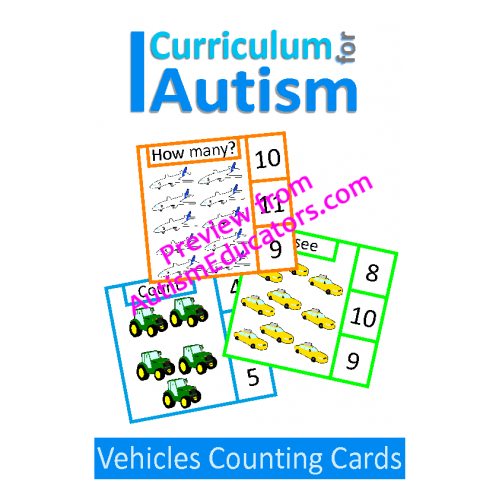 Clip cards math. Vehicles count