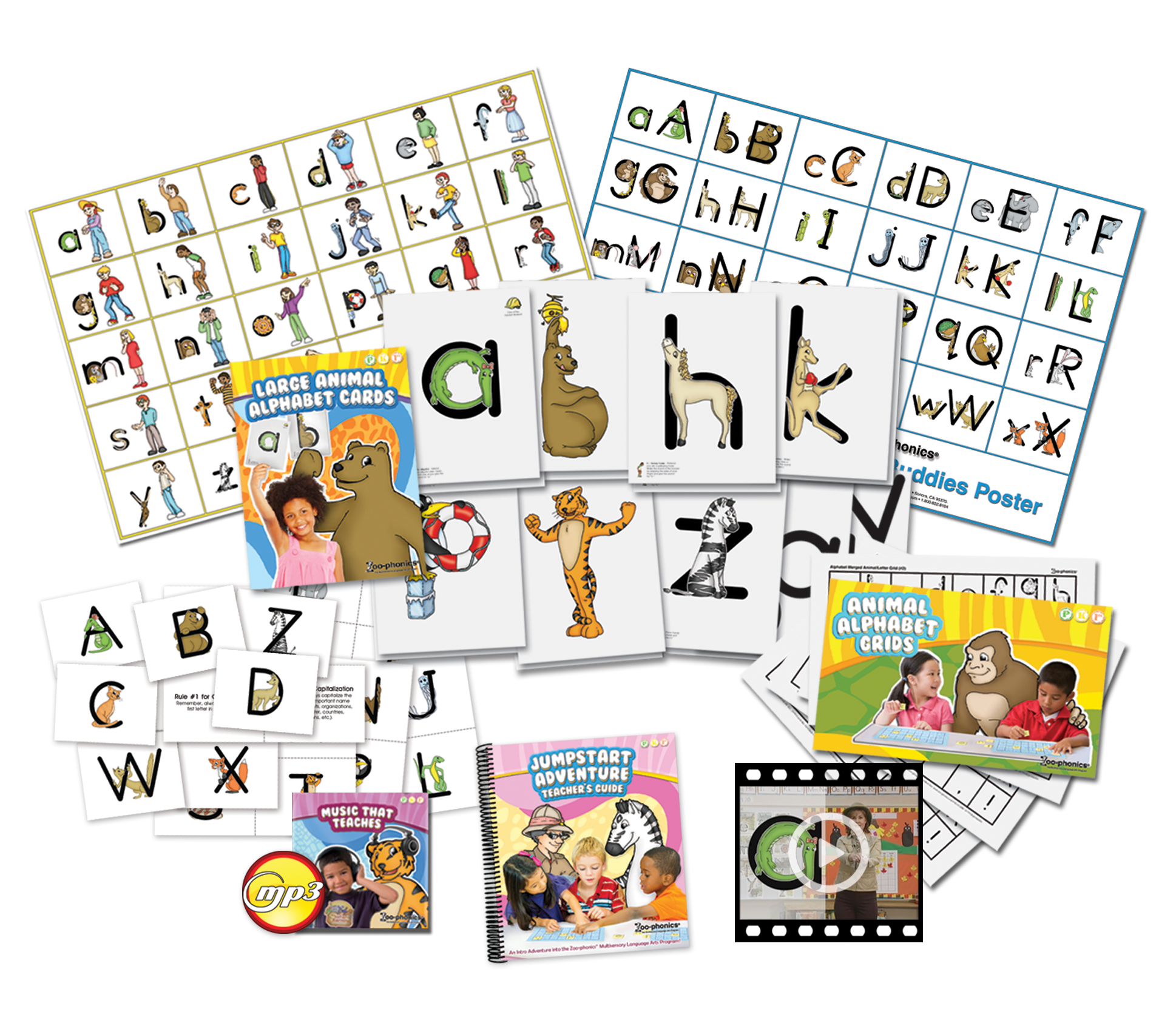 Clip cards phonics. Jumpstart adventure kit zoo