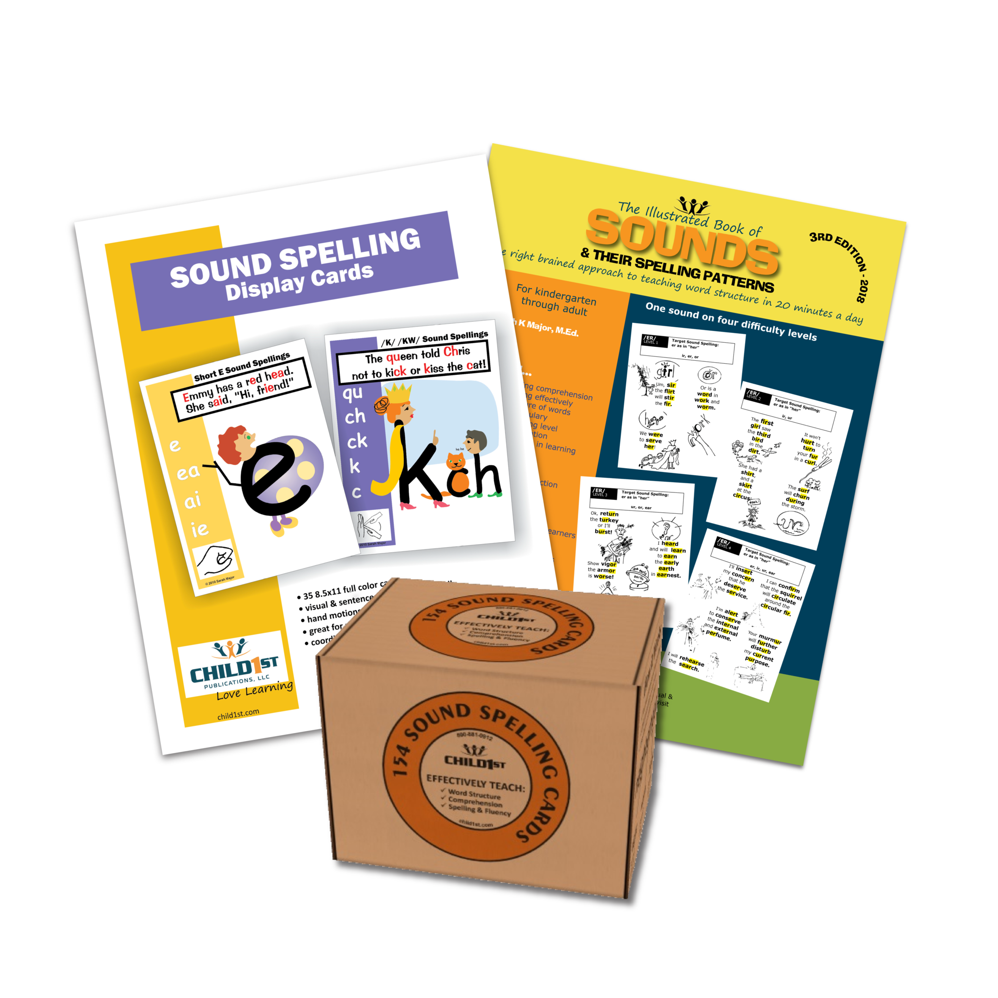 Clip cards phonics. Right brained spelling kit
