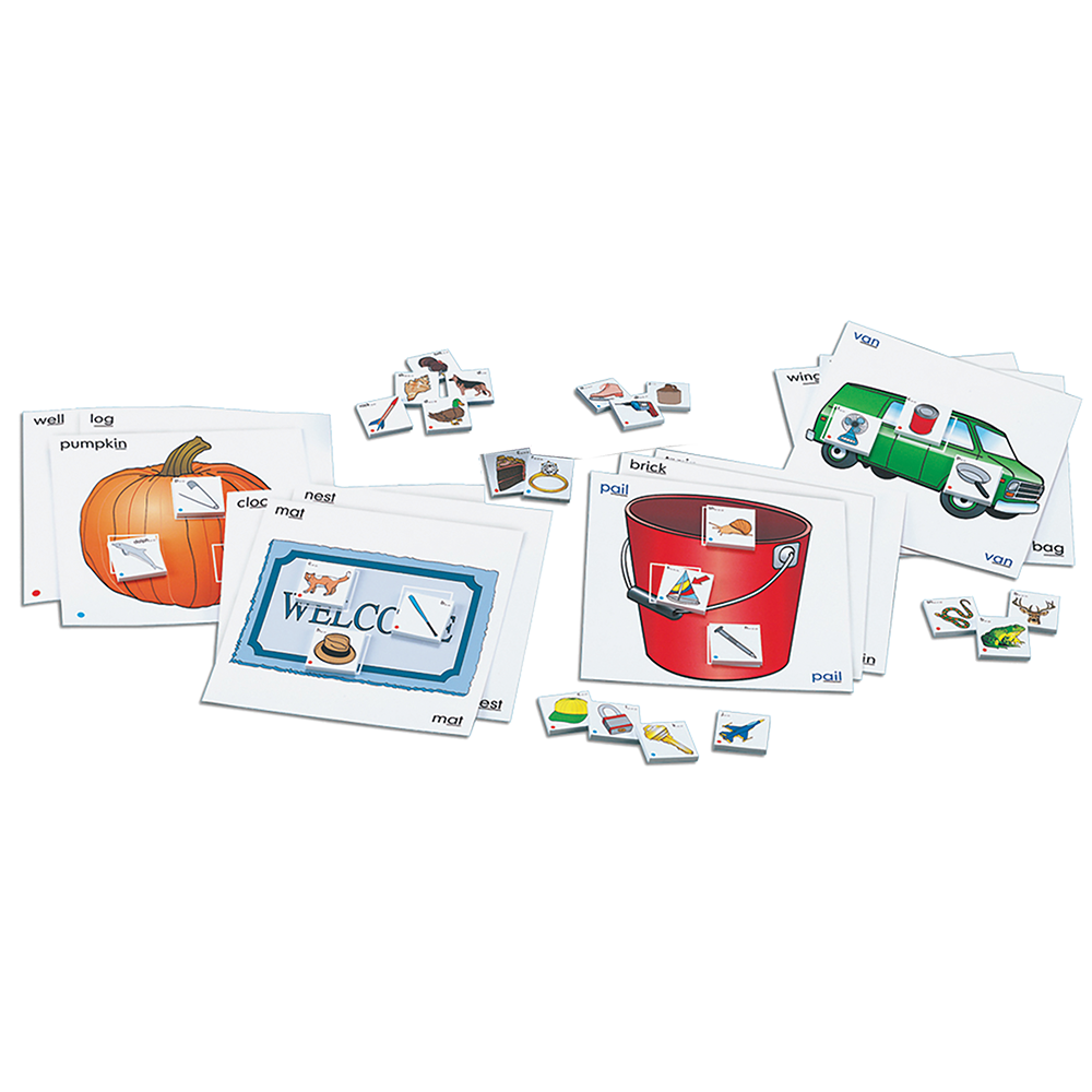 Clip cards phonics. Center word families playmonster